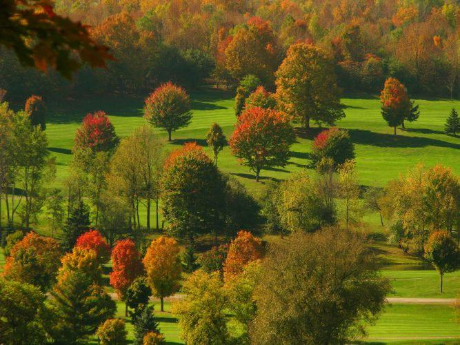 The Twin Delights Of Fall Foliage At Byrncliff Golf